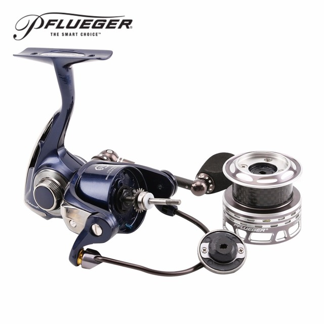 2016 New! Pflueger PATRIARCH 9525 9530 9535 Spinning Fishing Reel 9+1BB 5.2:1 Anti Corrosion + A Free Reel bag + Spare spool
