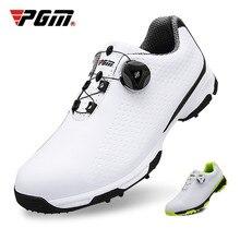 Pgm sapatos de golfe dos homens sapatos esportivos à prova dwaterproof água botões fivela respirável anti deslizamento sapato de golfe dos tênis de treinamento xz095