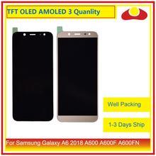 10 sztuk/partia dla Samsung Galaxy A6 2018 A600 A600F A600FN wyświetlacz LCD z ekranem dotykowym panel digitizera Monitor zgromadzenie kompletna