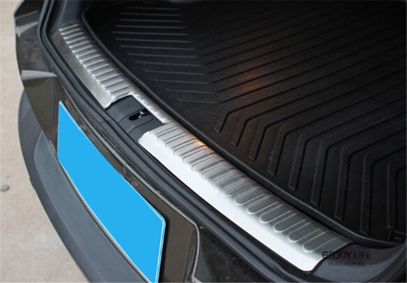 car interior rear bumper protector tail tailgate trunk guard sill plate scuff trim cover for vw. Black Bedroom Furniture Sets. Home Design Ideas