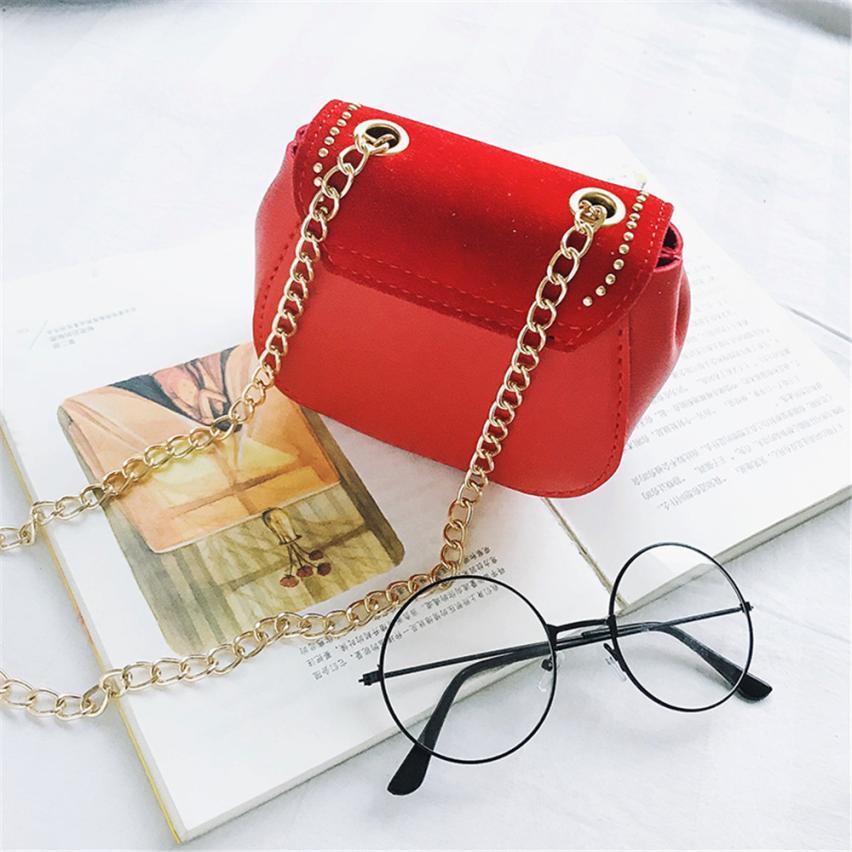 Для девочек Искусственная кожа милые сумка девушка сплошной цвет пряжки мини сумочка маленькая квадратный посылка # W