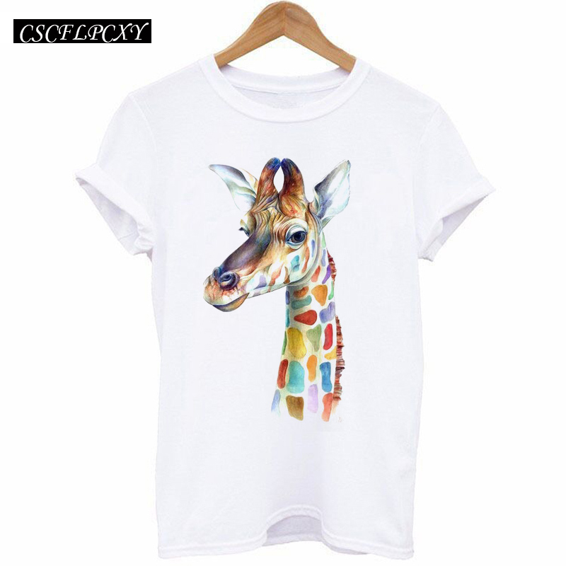 HTB1fllYldnJ8KJjSszdq6yxuFXaz - 2017 Casual T-shirt Women Tshirt Short Sleeve Kawaii Elephant Print Camisetas Mujer Tops Tee Shirt Female O-neck White Tees