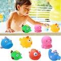 6 Pcs água-esguichando Água Crianças Brinquedos Piscina De Água De Natação Brinquedos para o Banho Do Banheiro Crianças Oceano Animal Banho Brinquedo de Borracha Macia