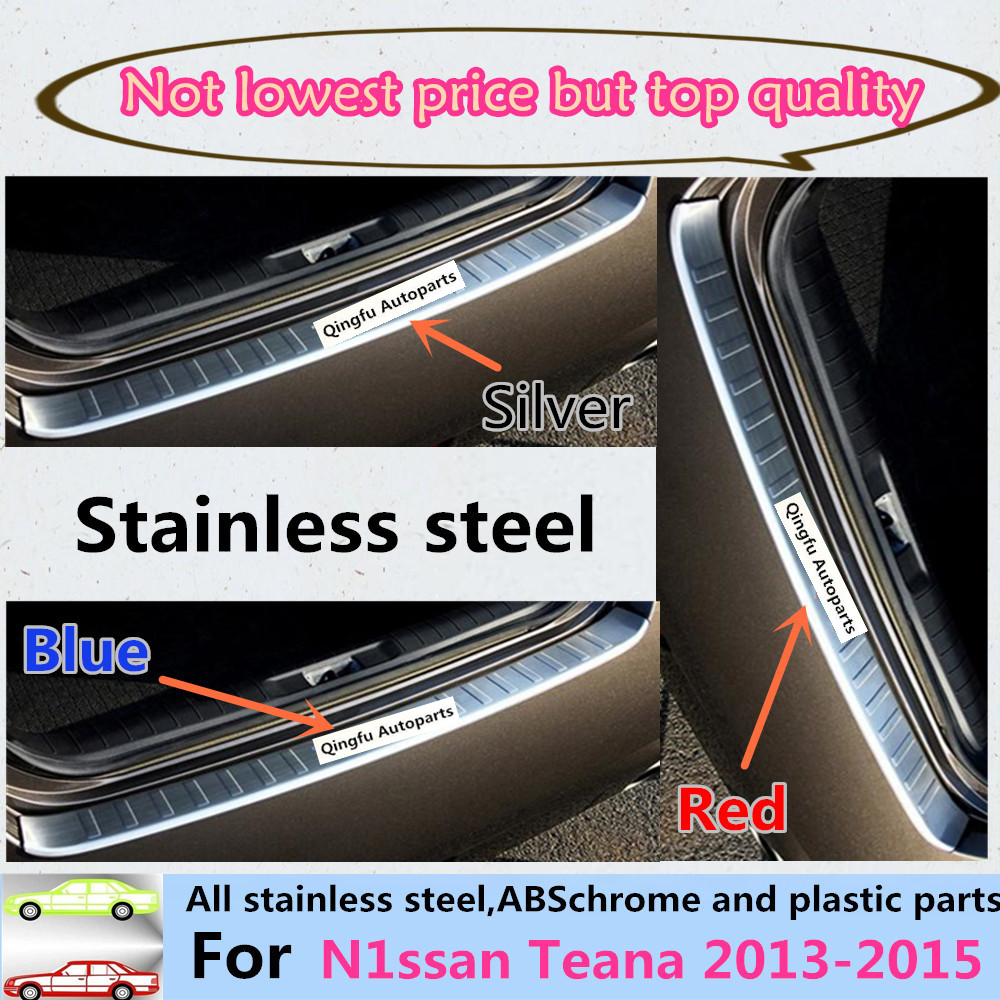 For Nissan Teana 2013 2014 2015 Car cover Stainless Steel outside Rear Bumper Strip trim plate lamp frame threshold pedal 1pcs