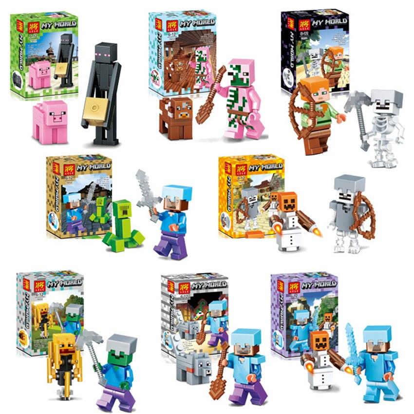 8set/lot Hot <font><b>Sale</b></font> Minecraft Toys Minifigures Model Game Juguetes Minecraft <font><b>Action</b></font> <font><b>Figures</b></font> Safe ABS Gifts <font><b>for</b></font> Kids Brinquedos #E