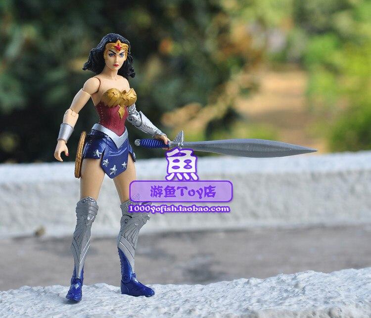 Новое поступление Wonder Woman Принцесса Диана меч DC Comics Классический супергерой 7 фигурку Игрушечные лошадки новые свободные
