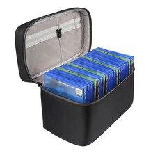 سعة كبيرة CD أقراص حقيبة التخزين ل Xbox One PS4 /PS4 برو لعبة القرص حمل حقيبة السفر المحمولة صندوق تخزين غطاء