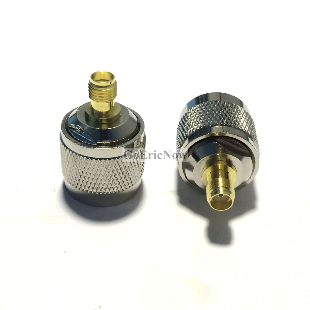 QMA male plug center to SMA female jack center Conversion Adapter RF connector