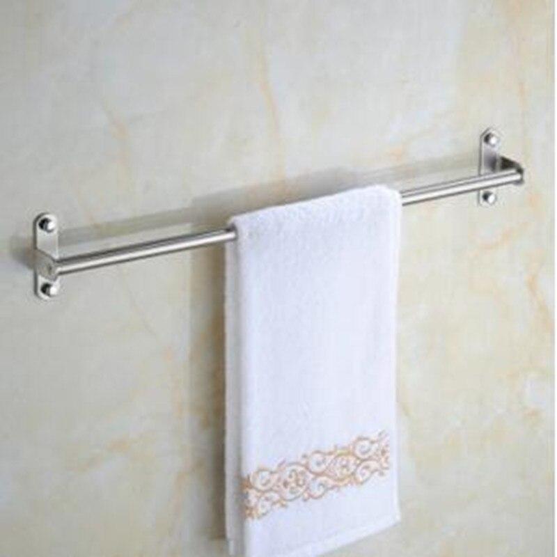 304 Stainless Steel Sucker Towel Rack Bathroom Bar Single