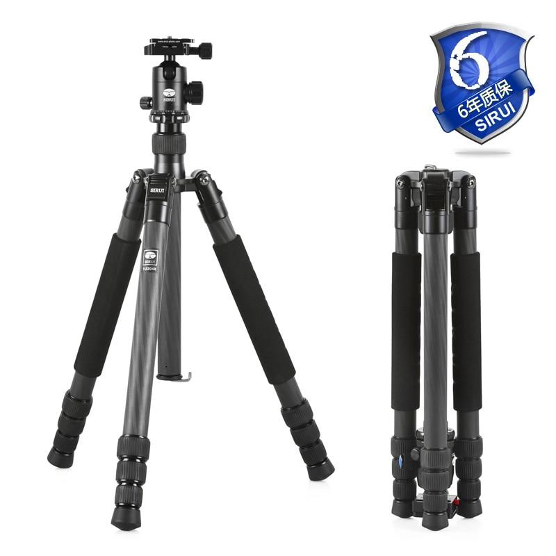 Sirui T-2204X Camera Stand Tripod+Ball Head 2in1 Kit New T2204X+G20KX Carbon Fiber Light Weight Travel Handy Digital SLR Film