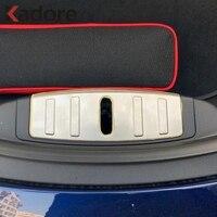 Para Tesla Model 3 2018 2019 Protector de parachoques interno de acero inoxidable embellecedor Umbral de puerta placa de desgaste accesorios de coche
