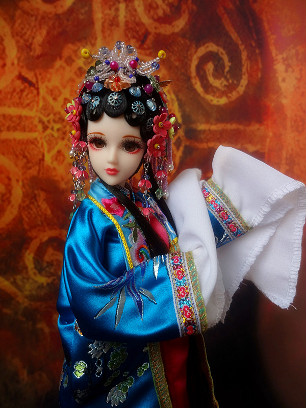 32cm 1/6 Collectible Chinese Peking Opera Dolls Traditional Ancient Girl Doll 12 Jointed Body Educational Gifts image