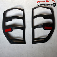 CITYCARAUTO for accessories ABS matte black tail light covers trim for ranger T6 T7 2012 2017 car styling rear lamp cover