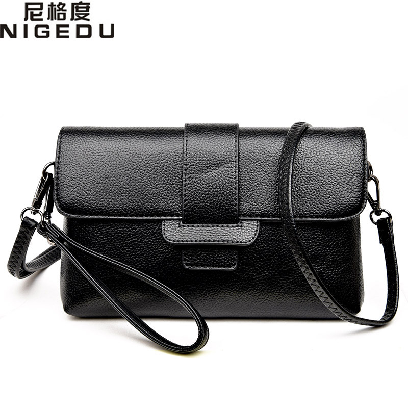 Women bag 2017 fashion brief women designer handbags high quality leather clutch messenger Crossbody Bag designer Clutche bolsas