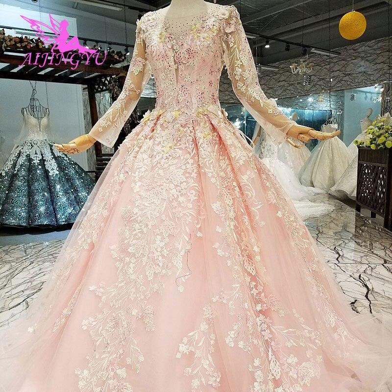 AIJINGYU robes de mariée Images réelles livraison gratuite sur grande taille populaire Sexy dentelle robe de mariée robe de mariée australie