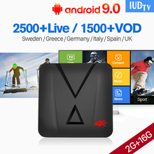 IPTV Sweden Spain Italy UK Germany MX10 MINI Android 9.0 2GB+16GB USB3.0 Nordic Greek 1 Year IUDTV Box
