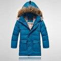 Мальчики толстый вниз куртка зима дети длинная участки тёплый пальто одежда мальчики закрытый воротник вниз Outerwae