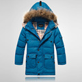 High Quality Boys  Thick Down Jacket  2015 Winter New Children  Long Sections Warm Coat Clothing  Boys Hooded Down Outerwae