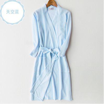 Женщины Сексуальная Кимоно Банный Халат Женщин Вафельный pijama Ночное Сна Гостиная домашняя одежда пеньюары главная 62501