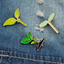 FUNIQUE Cartoon Pins Badge Lovely Badge Plant Potted Collar Shoe Lips Brooch Coconut Tree Cactus Leaves Decorative Clothing(China)