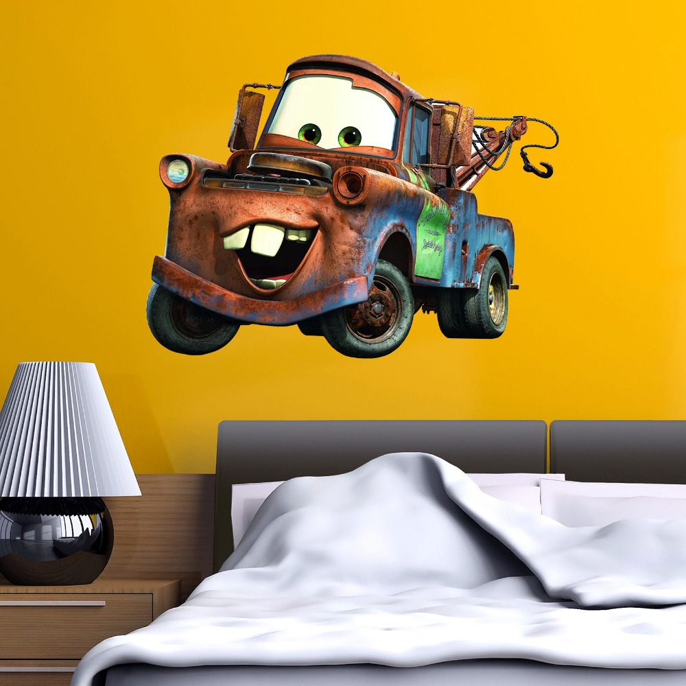 CARS LIGHTENING MCQUEEN  MATER WALL STICKER NURSERY//KIDS//GIRLS//BOYS ROOM