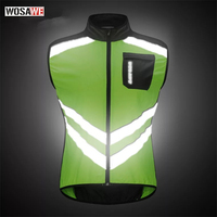 Cycling Reflective Bike Vest Sleeveless Windproof Shirts MTB Road Bike Bicycle Jersey Top Cycle Clothing Wind Coat