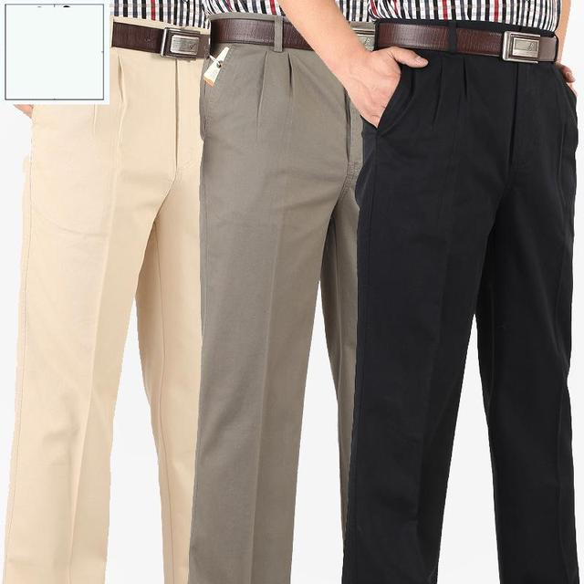 New Arrival Spring Summer Men Straight Trousers Loose High Waist