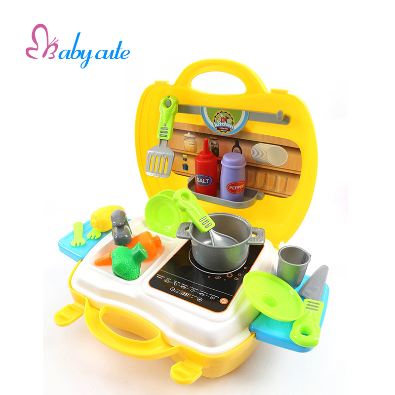 Kids kitchen toys set mini pretend play cooking kit for Cocina juguete aliexpress