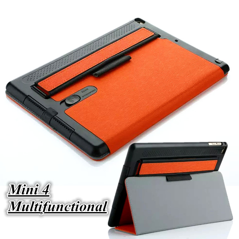 Fashion Smart Cover for iPad Mini 4 Multifunctional Tablet Case 7.9 Inch Ultra Slim Stand Cover for Apple iPad Mini4