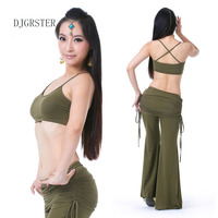 DJGRSTER Stage Performance Luxury Solid Color Belly Dancing Egyptian Costumes Oriental Style Bra Belt Belly Dance