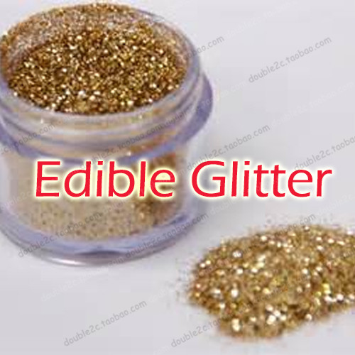 Edible Cake GlitterGolden Edible Sprinkles for Cake Decoration4g