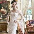 Lace Luxury Long sleeve wedding Bolero Elegant Bridal Jacket New fashion Speaker sleeves Charming Wedding Accessoires  Z1129