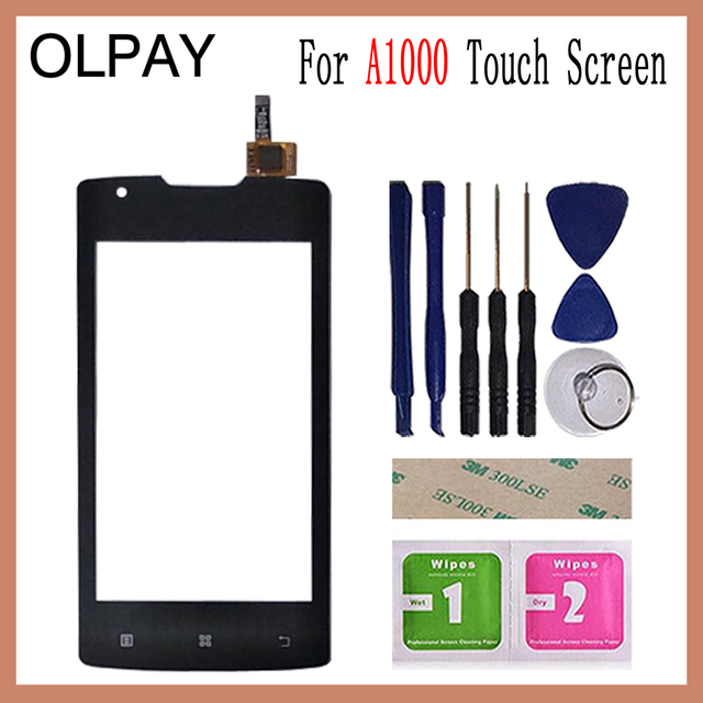 "4.0""  inch For Lenovo A1000 Touch Screen Glass Digitizer Panel Touch Screen Front Glass Lens Sensor Tools"