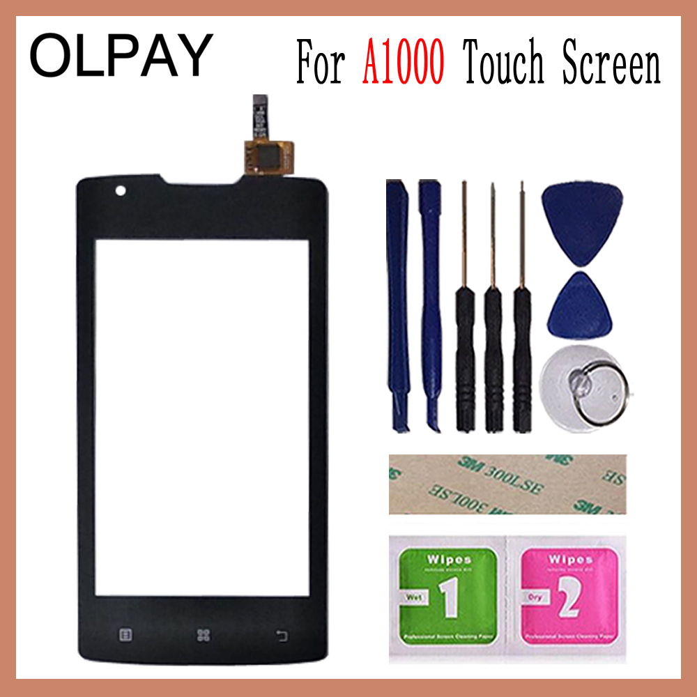 Image 2 - OLPAY 4.0 inch For Lenovo A1000 A 1000 Touch Screen Glass Digitizer Panel Touch Screen Front Glass Lens Sensor Tools-in Mobile Phone Touch Panel from Cellphones & Telecommunications