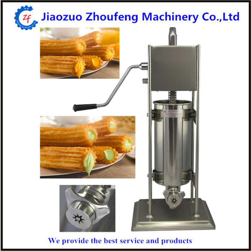 Stainless steel hand operation churros making machine manual Latin fruit machine 12l electric automatic spain churros machine fried bread stick making machines spanish snacks latin fruit maker