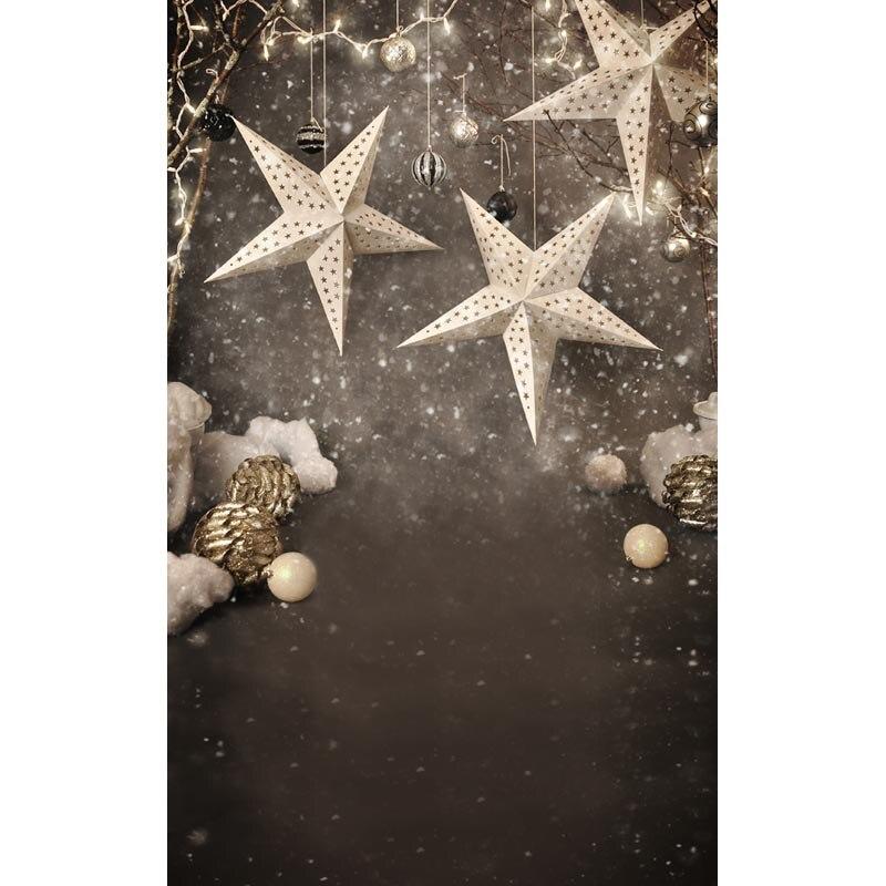 Benutzerdefinierte vinyl tuch Schneeflocke Weihnachten sterne tapete ...