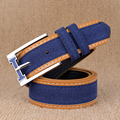 [TG] 2016 Latest New Designer Men Belt Cinto Faux Leather Fabric Stripe Patchwork Women Waistband Belt Male Strap Free Shipping