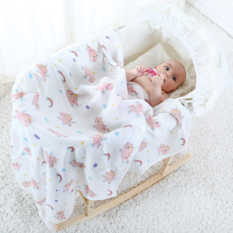 Muslin Baby Blanket Cotton Bamboo Super Soft Baby Swaddle For Newborns Lovely Wraps Baby Bath Towel Bed Sheet Stroller Cover