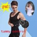 Homens cueca emagrecimento Shaper peito barriga do controle de postura Corrector shapewear camisa