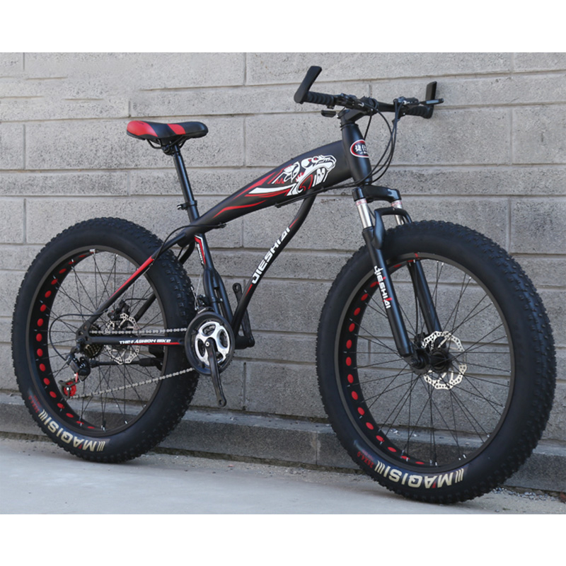 Snowmobile Mountain Bike 24 Inches 24 Speeds Spoke 4.0 Wide Tire High Carbon Steel Frame Men And Women General