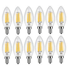 Lâmpada led e14 ac220/240v, 2w 4w 6w, lâmpada para filamento, c35, edison, com 10 peças lâmpada retro antiguidade estilo vintage frio branco quente