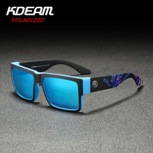 2019 New Arrival Men Sport Sunglasses Square Frame HD Polarized mirror lens Women Outdoor Eyewear UV400 5 Colors with case