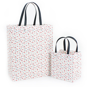 12pcs High quality mini flowers pattern gift packaging bags with handle wedding party favor simple package pouch pocket