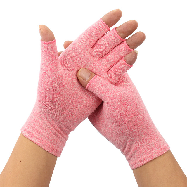1Pair Compression Therapy Fingerless Gloves 5