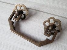 2.75 Drawer / Dresser Pull Bail Antique Bronze Black Copper Rustic Cabinet Handle Old Furniture Decorative Hardware 70 mm
