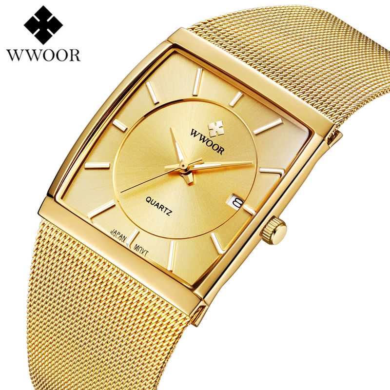 WWOOR Men Square Waterproof Quartz Watch Men Watches Top Brand Luxury Luminous Sport Wrist Watch Male Clock Relogio MasculinoWWOOR Men Square Waterproof Quartz Watch Men Watches Top Brand Luxury Luminous Sport Wrist Watch Male Clock Relogio Masculino