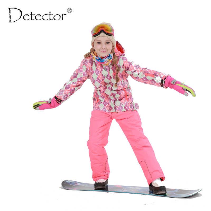 b25bfc78d Free Shipping Winter Outdoor Children Clothing Set Windproof Ski Jackets + Pants  Kids Snow Sets Warm