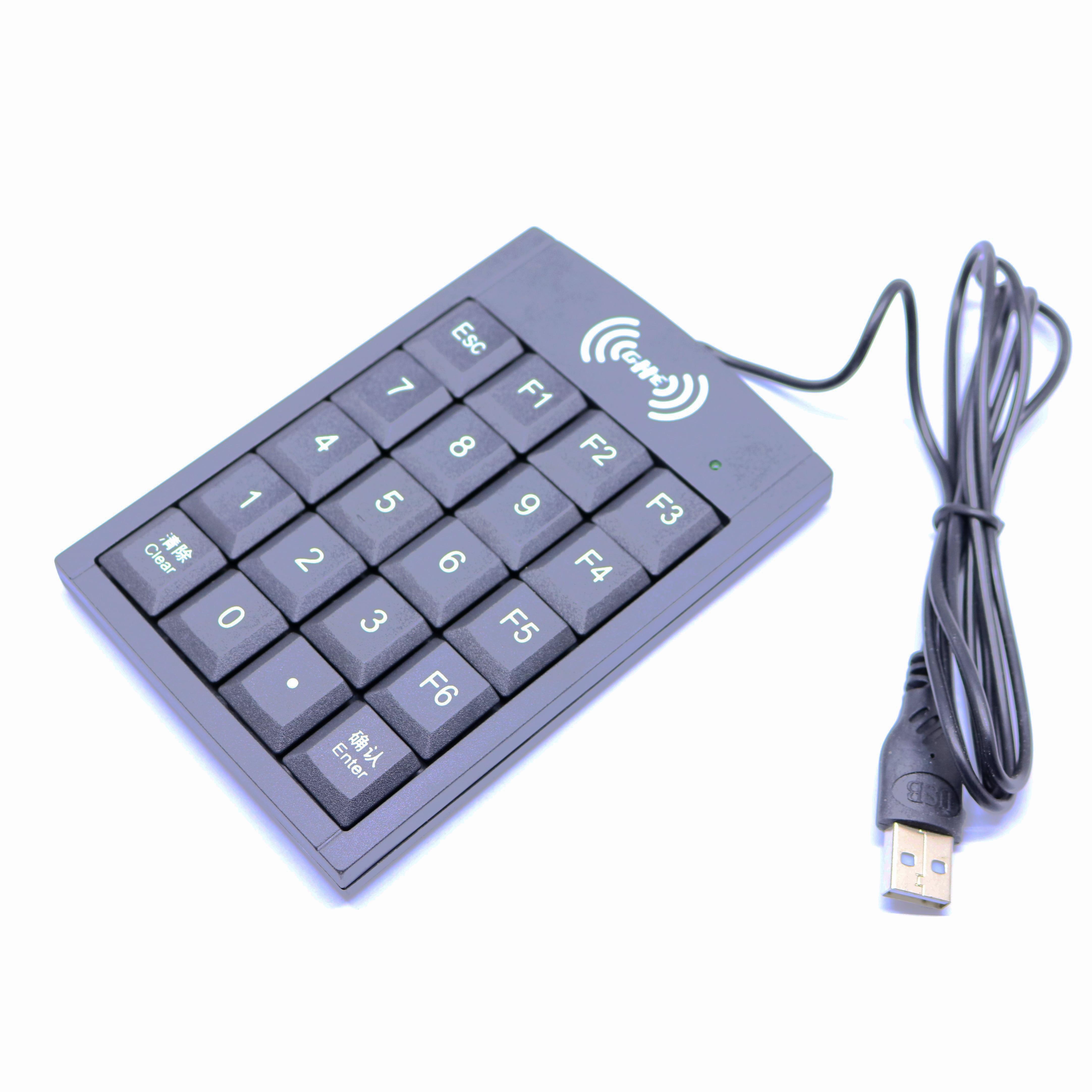 RFID 125khz USB EM Card Numeric keyboard usb pos numeric keypad card reader white