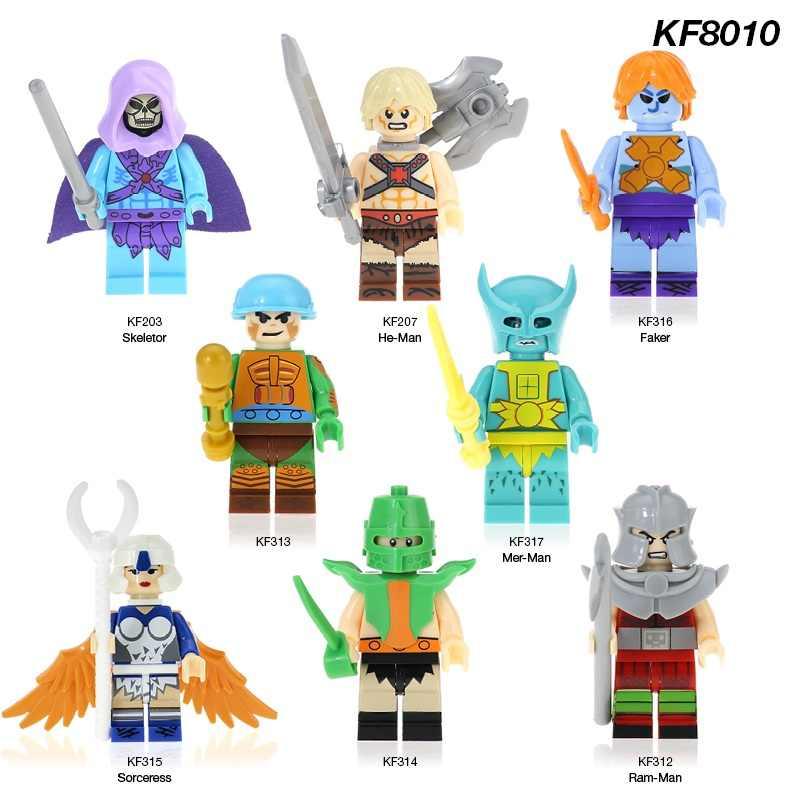 KF8010 один продажа строительный блок Trj-Klops Ram-Man-At-Arms Faker Sorcerss He-Man экшн-кирпичи фигуры Детские игрушки