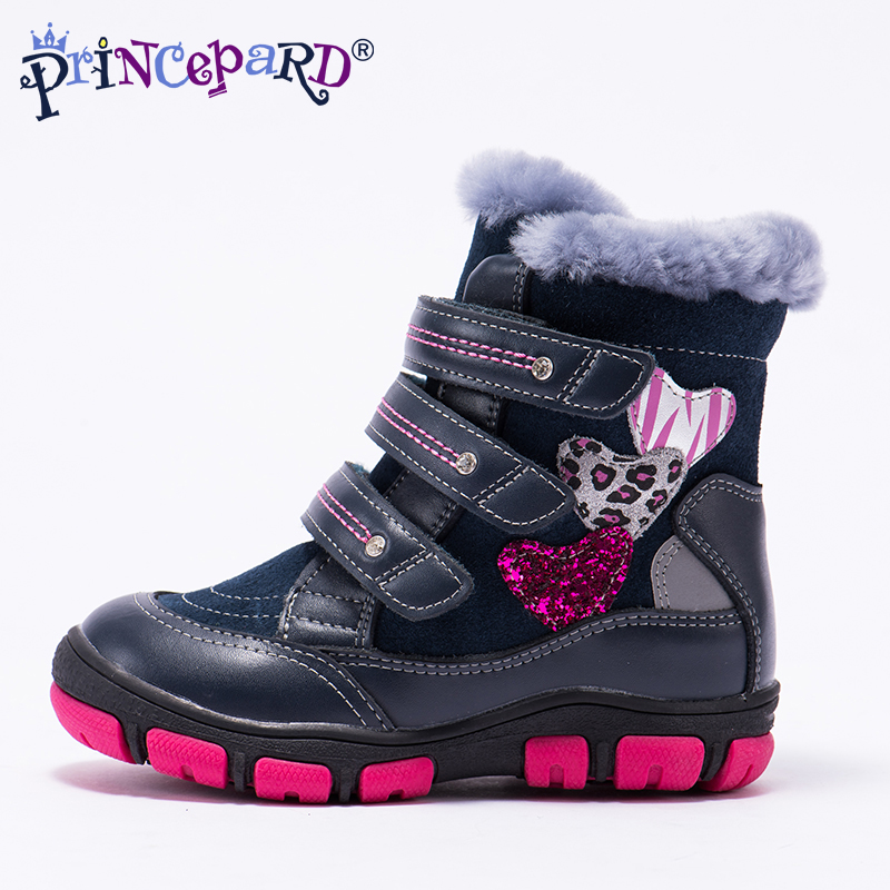 02a60e41d6 Princepard 2018 winter orthopedic boots for kids 100% natural fur lining genuine  leather upper shoes